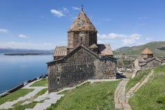 Medieval church on Sevan lake, Armenia Royalty Free Stock Photos
