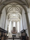 Medieval church in Sighisoara, Romania. Inside of a gothic initialy romano-catholic medieval church in Sighisoara medieval city. The Church from the Hill stock photography