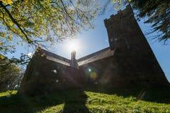 Medieval church silhouette Stock Photo
