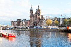 Medieval church St. Niklaas in Amsterdam Netherlands Royalty Free Stock Images