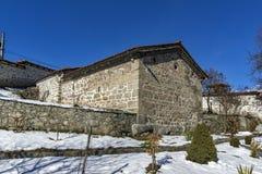 Medieval church of  St. Theodore Tyron and St. Theodore Stratelates. Dobarsko village,   Blagoevgrad region, Bulgaria Royalty Free Stock Image