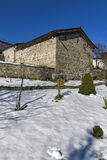 Medieval church of St. Theodore Tyron and St. Theodore Stratelates. Dobarsko village, Blagoevgrad region, Bulgaria stock photo