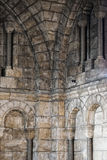 Medieval church stone arches Royalty Free Stock Photography