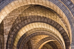 Medieval church stone arches Royalty Free Stock Image