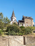 Medieval church with stone house Royalty Free Stock Photography