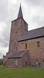 Medieval church with tower Stock Image