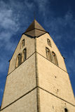 Medieval church tower. In limestone from the 13th century. Sundre Church, the Baltic Island of Gotland, Sweden Royalty Free Stock Photos