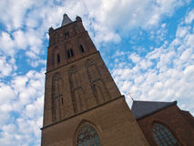 Medieval church tower Stock Images