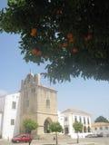 Medieval tower oranges Stock Photo