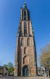 Medieval church tower Onze Lieve Vrouwetoren in Amersfoort Royalty Free Stock Images