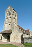 Medieval church of XIV century. In France Stock Photo