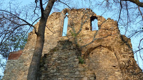 Medieval churchs ruins in Budapest Stock Image