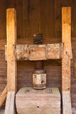 Medieval cider press Stock Photo