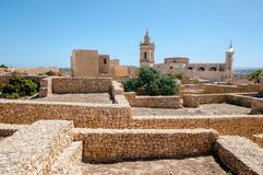 Medieval citadel, Gozo. Medieval citadel on the island of Gozo, Malta stock photos