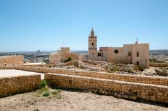 Medieval citadel, Gozo. Medieval citadel on the island of Gozo, Malta stock photo