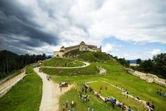 Medieval citadel in Rasnov town Stock Image
