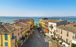 Citadel Sirmione on Garda lake Stock Image