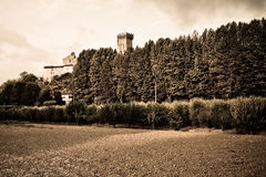 Medieval citadel of Vicopisano (Italy - Tuscany - Pisa) - Toned Royalty Free Stock Photos