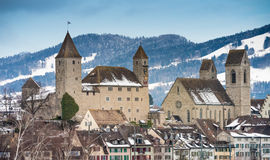 Medieval city (Altstatd) of Rapperswil, Switzerland royalty free stock image
