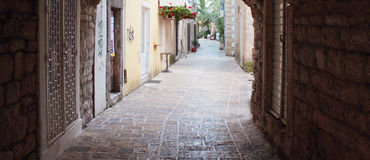 Medieval city (Budva, Montenegro) Royalty Free Stock Photos