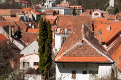 Medieval city buildings Royalty Free Stock Images