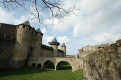 Medieval city of Carcassonne , France Stock Photo