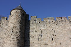 Medieval city of Carcassonne , France Royalty Free Stock Images