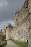 Medieval city of Carcassonne , France. Medieval city of Carcassonne in Aude, Occitanie in South of France Royalty Free Stock Image