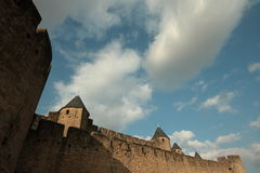 Medieval city of Carcassonne , France Royalty Free Stock Photos