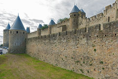 Medieval city of Carcassonne in France Stock Photo