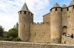 Medieval city of Carcassonne in France Stock Photos