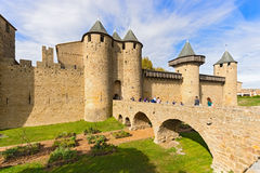 Medieval city of Carcassonne in France Royalty Free Stock Photos
