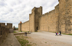 Medieval city of Carcassonne in France Royalty Free Stock Images