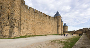 Medieval city of Carcassonne in France Stock Images
