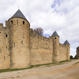 Medieval city of Carcassonne in France Stock Image