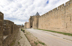 Medieval city of Carcassonne in France Royalty Free Stock Photo