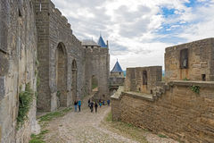 Medieval city of Carcassonne in France Royalty Free Stock Image