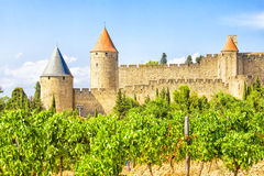 Medieval city of Carcassonne, France Stock Images