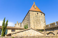 The medieval city of Carcassonne. South of France Royalty Free Stock Photo