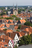 Dutch medieval city center royalty free stock image