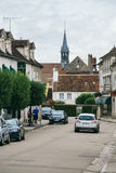 The medieval city of Chablis Royalty Free Stock Images