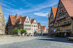 Medieval city Dinkelsbuehl in Germany Royalty Free Stock Images