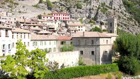 The medieval city of Entrevaux, France Royalty Free Stock Photography