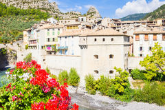 The medieval city of Entrevaux, France Stock Photos