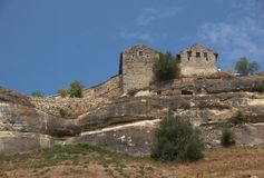 Medieval city-fortress Chufut-Kale, Crimean Mountains Royalty Free Stock Photography