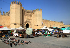 Medieval city gate in Fes Royalty Free Stock Image