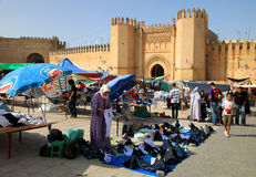 Medieval city gate in Fes Royalty Free Stock Photos