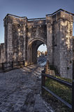 The medieval city gate and ramparts Stock Photography