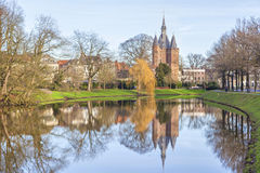 Medieval city gate Sassenpoort, Zwolle royalty free stock images
