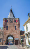 Medieval city gate Vischpoort in Elburg Royalty Free Stock Photos